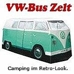 VW Bulli mintgrün, Camping Bus Zelt - Bully