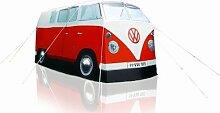 VW Bulli rot, Camping Bus Zelt - Bully Camper Zelt von ERRO. Kreative Geschenkidee - Das ideale Geburtstagsgeschenk und Weihnachtsgeschenk für Campingfreunde und Autoliebhaber!
