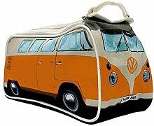 VW Bus Badetasche orange. Tolle Geschenkidee und Geburtstagsgeschenk, auch ein schönes retro Weihnachtsgeschenk für VW Bulli fans