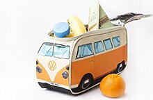 VW Bus Bulli Kühltasche orange, Volkswagen Bus, Lunchbag, Campervan. Das Original. Tolle Geschenkidee, Picknick Tasche für VW-Fans, Geburtstagsgeschenk, EM Must-have