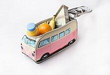 VW Bus Kühltasche rosa, Tolles Weihnachtsgeschenk, Volkswagen Bully Lunch Bag, Bulli, Campervan. Das Original von ERRO. Tolle Retro Geschenkidee für Mädchen oder coole Girls. Picknick Tasche für VW-Fans