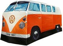 VW Bus orange Camping Zelt - T1 Bully Camper Zelt. Weihnachtsgeschenk. Top Geschenkidee für VW Bulli Fans -