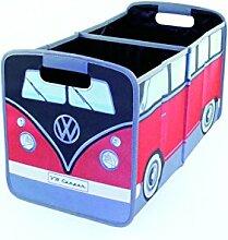 VW Collection by BRISA Faltbox Aufbewahrung Sammelbox Spielkiste mit Trageschlaufen im VW Bus T1 Design