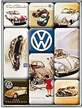 VW Retrostil Magnete Set von 9 - Klassische Beetle