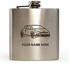 VW SCIROCCO Design–personalisierbar Flachmann (mit Geschenk-Box und Trichter)