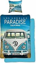 VW Volkswagen Bulli Bettwäsche Paradise 135 cm x