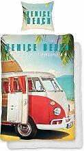 VW Volkswagen Bulli Bettwäsche Venice Beach 135 x