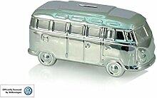 VW Volkswagen Campervan Silber Keramik Spardose
