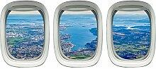 VWAQ PPW6 Fensteraufkleber, Flugzeug