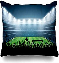 VwuuzLpOD Pillowcase Fan Excited Crowd Soccer