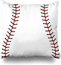 VwuuzLpOD Pillowcase Softball Ball Baseball Red