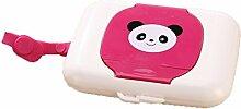 vxcbndtjd Protable Panda-förmige Feuchttuchbox