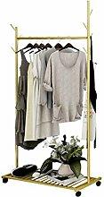 W-bgymj Mobiler Kleiderständer Vintage Coat Rack