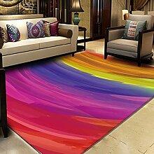 W&HH SHOP Splash Ink Wohnzimmer Couchtisch Teppich