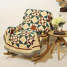 W&lx Geometrische Sofa Handtuch, Baumwolle