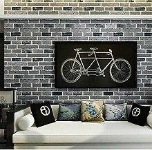 W Moderne PVC 3D Brick Pattern Tapeten, Home Decor Wallpaper für Wohnzimmer , 23101 , 5