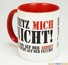 W@W Kaffeebecher AUF DER Arbeit (rot)