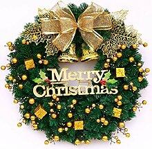 W&ZCH Kranz Weihnachtskranz Fenster Dekoration PVC