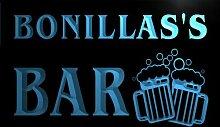 w031958-b BONILLAS Name Home Bar Pub Beer Mugs Cheers Neon Light Sign Barlicht Neonlicht Lichtwerbung