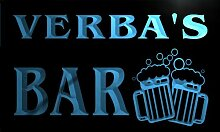 w035232-b VERBA Name Home Bar Pub Beer Mugs Cheers Neon Light Sign Barlicht Neonlicht Lichtwerbung
