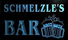 w038821-b SCHMELZLE Name Home Bar Pub Beer Mugs Cheers Neon Light Sign Barlicht Neonlicht Lichtwerbung