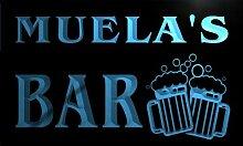 w038918-b MUELA Name Home Bar Pub Beer Mugs Cheers Neon Light Sign Barlicht Neonlicht Lichtwerbung