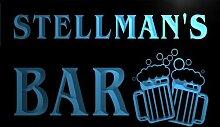 w051330-b STELLMAN Name Home Bar Pub Beer Mugs Cheers Neon Light Sign Barlicht Neonlicht Lichtwerbung
