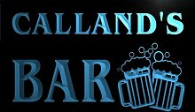 w056992-b CALLAND Name Home Bar Pub Beer Mugs Cheers Neon Light Sign Barlicht Neonlicht Lichtwerbung