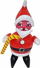 W057 Aufblasbarer Weihnachtsmann Nikolaus 47cm