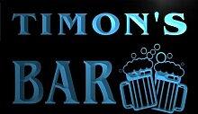 w058120-b TIMON Name Home Bar Pub Beer Mugs Cheers Neon Light Sign Barlicht Neonlicht Lichtwerbung
