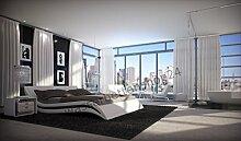 w1a Designer Wasserbett Accent Weiß 200 x 220 cm