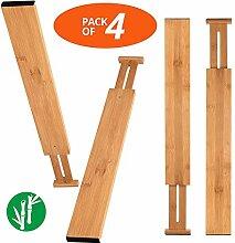 Wa-Very Bambus Küche Schublade Teiler