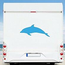 WA2131 Clickzilla - Wohnmobil Aufkleber - Wohnwagen - Aufkleber - Delfin