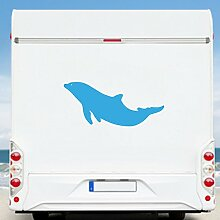 WA2132 Clickzilla - Wohnmobil Aufkleber - Wohnwagen - Aufkleber - Delfin