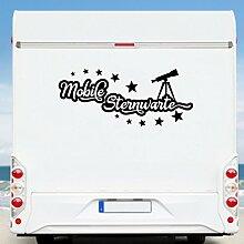 WA5 Clickzilla - Wohnmobil Aufkleber - Wohnwagen - Mobile Sternwarte
