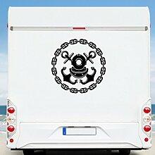 WA54 Clickzilla - Wohnmobil Aufkleber - Wohnwagen - Anker