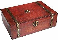 WaaHome Schatztruhe, Piraten Schatzkiste für schmuck, lagerung, karten sammlung, geschenke und dekoration