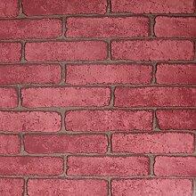 WaaHome Tapete, Backsteine Tapete, Wandtapete Für Zu Hause Schlafzimmer Wand Dekoration 32.8ft X 17.7inches