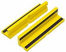 WABECO Kunststoff Schutzbacken Schonbacken 125 mm Magnetisch für Werkbank Schraubstock