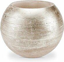 Wachs Windlicht Hohlkerze Metallic Bronze Ø 30 cm