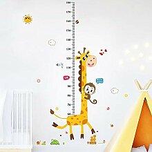Wachsende Baumhöhe Aufkleber Kinderzimmer Cartoon