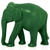 Wachsobjekt Kerze Elefant dunkelgrün