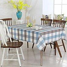 wachstischdeckePlaid braunen Stoff Tischdecke