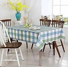 wachstischdeckePlaid grüner Stoff Tischdecke