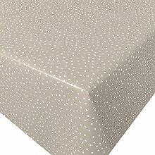 Wachstuch Antonia Beige Micro Punkte · Eckig 120x150 cm · Länge wählbar· abwaschbare Tischdecke