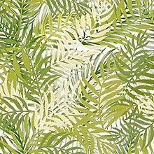 Wachstuch Blumen Bambus Grün· Eckig 140x650 cm