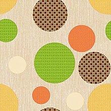 Wachstuch Bubbles Beige Glatt · Eckig 120x220 cm · Länge wählbar· abwaschbare Tischdecke