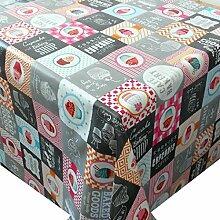Wachstuch Cupcake Bunt Eckig 140x200 cm · Classic Line - Länge , Motive , Muster , Farbe wählbar abwaschbare Tischdecke