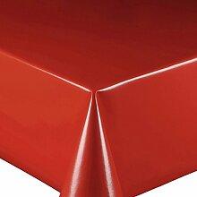 Wachstuch Glatt UNI Rot · Eckig 90x170 cm · Länge wählbar· abwaschbare Tischdecke
