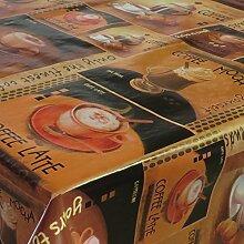 Wachstuch Kaffe Kaffee Braun Cappuccino · Eckig 140x190 cm · Länge wählbar· abwaschbare Tischdecke